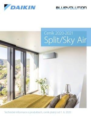 Ceník Split/Sky Air 2020-2021